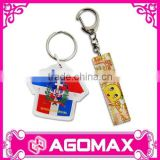 Custom acrylic plastic photo holder keychain/ photo frame keyring