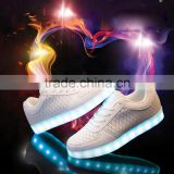 2016 Fashion unisex Led light up shoes, Light USB charger led shoes for adult. Novelty Led sneaker shoes for Night Party !