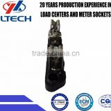 High qualtity 100A long steel basbar steel terminal Single Phase Meter Socket Inner Part