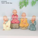 vintage home decor of resin baby buddha statue