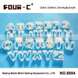 Alphabet plastic cookie cutter set,hot selling cookie decorating