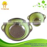 2014 durable and convenient stainless steel handle silicone steamer