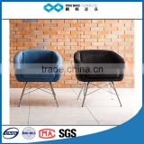 TB wholesale modern wire leg blue round lounge chair