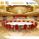 Restaurant banquet hall cheap round white metal folding banquet table