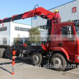 hand operated lifting equipment on truck, Model No.: SQ400ZB4, 20ton truck crane with foldable booms.