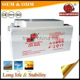 Factor Price Maintenance Free 24v AGM Deep Cycle solar battery 12v 60ah