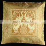 "16"" Elephant animal BROCADE PILLOW CUSHION Cover Gift Royal India Decoration Home decor Indian Store"