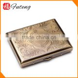 Bronze wire drawing 16pcs Wholesale Fancy Design Tobacco Case Metal Box
