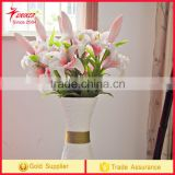Artificial Flower PU Tiger Lily Bridal Wedding Party Bouquet Real Touch Craft Flower PU Latex Material