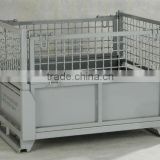 foldable and stackable metal cage
