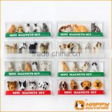 Polyresin fridge magnet cute pet animal dog and cat shaped 3D mini set