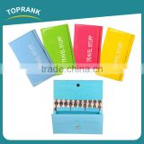 Toprank Hot Selling PVC Folding Plastic Document Wallet Ticket Passport Document Travel Wallet Holder