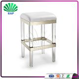 Modern Acrylic Bar Stool Changing Room Clear Plexiglass Stool Dressing Table Stool