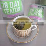 100% Natural Weight Loss 28 Day Detox Slim Max Belly Blaster Green Tea made in china