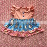 FLF-861 kids Easter dresses wholesale hot sale fall boutique children baby girl pearl dress pictures
