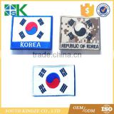 Korea used clothing Iron On Country Flag Embroidered Patch