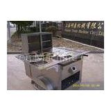 6 Trays Hot Dog Concession Carts , Mobile Kitchen Carts 3 gas steamers
