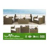 4pcs Loveseat Sofa Set  Patio Outdoor Furniture Minimum Maintenance Feature