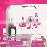 Fashion Waterproof PVC Wall Stickers Clock Modern Design,DIY Designer Artistic Wall Hanging Clocks Mechanism