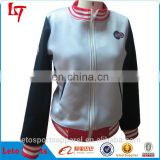 Fashion design /college jackets wholesale High quality cotton fashionable printed Embroidery printing custom baseball jackets