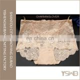 New arrival beautiful flower lace cotton quick dry fashionable design girls panty