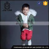 Factory direct top quality kids parka fur raccoon jacket