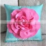 flower shape throw pillow Felt Rose with BONUS Pillow Pattern Tutorial