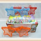 Plastic star spectacles toy, kids crazy party goofy glasses toy