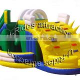 Creative jumping inflatable bouncer outdoor round for kids