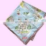 popular cotton English souvenir handkerchief