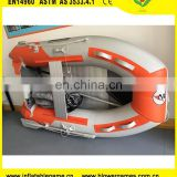 In stock 2.3m Aluminum PVC 1-2 persons motor rowing inflatable boat