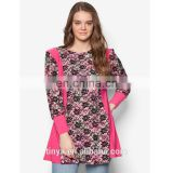 Fashion design islamic clothing wholesale ladies tops long sleeve printing women muslim blouse