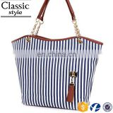 CR fully stocked China wholesale bag with tassel key strip chain tote bag in handbags