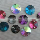 Wholesale Rivoli Sew on Glass Button Loose Gemstone Practical Crystal Button