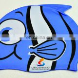 Super cute children's cartoon swimming cap / swim cap fish / multi-style 100% silicone swimming cap