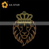 The king of lions strass heat transfer motif