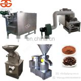 High Efficient Automatic Peanuts Roasting Equipment Almonds Paste Grinding Machinery Cocoa Bean Powder Making Machine