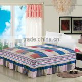 factory outlets 2015 high quality hand made bed sheet bed skirt with elastic fitted style