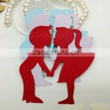 Groom Bride Wedding Party Decoration Red Place Card for Wine Glass                                                                         Quality Choice