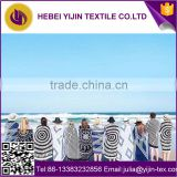 China supplier hot sale custom printed cotton promotional round beach towel with cool tassel