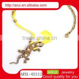 New Fashion Style Bohemian Gecko Pendant Chain Bib Statement Necklace Chain Spools