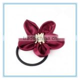 DIY handmade high end silk flower elastic hair band hair rope