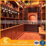 Modern Red wooden design displaying wall showcase for wine stand for home & bar