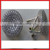 925 sterling silver micro pave cz wholesale screw back diamond earring clip-on