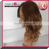 2014 New arrival body wave aaaaa human hair brazilian glueless silk top full lace wig