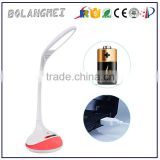 Modern ABS shade led desk lamp, RGB led bedside reading lamp