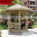 Garden Outdoor Modern Hot pine Wooden Gazebo