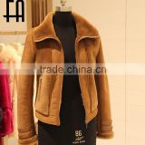 "Factory direct wholesale fashion lady""s wool sheared fur jacket"
