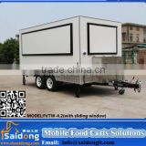 Fiberglass Luxury Street Sale Mobile Coffee Vending Trailer Mobile Food Cart Trailer for Sale
