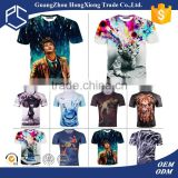 2016 Newest trending Guangdong new launched fashion cost effective sublimation 3d custom t shirt printing